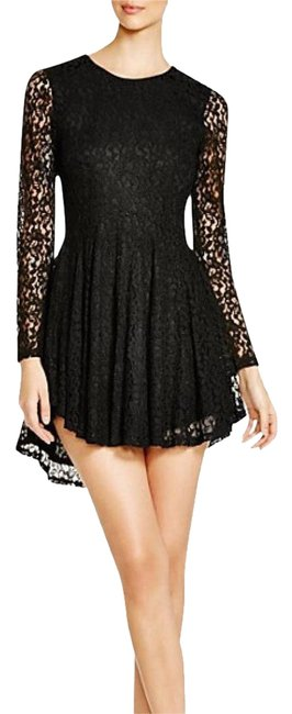 Item - Lace Long Sleeve Short Night Out Dress Size 4 (S)