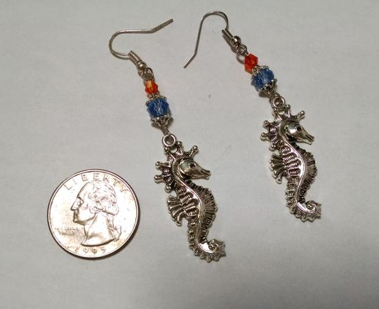 Other New Earrings Sea Horse Silver J775 Summersale