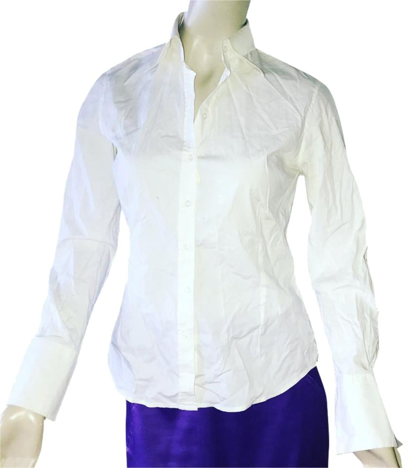 b3e2afdc3c500 Zara White Fitted Dress Shirt Button-down Top Size 8 (M) - Tradesy