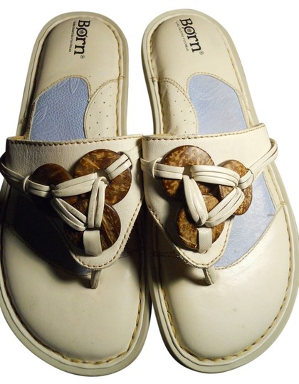Børn Leather Thong Mbc off white Sandals