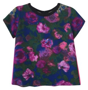 Sandro Floral Chic Structured Top pink