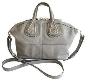 Givenchy Cross Body Nightingale Micro Mini Satchel in Light Grey