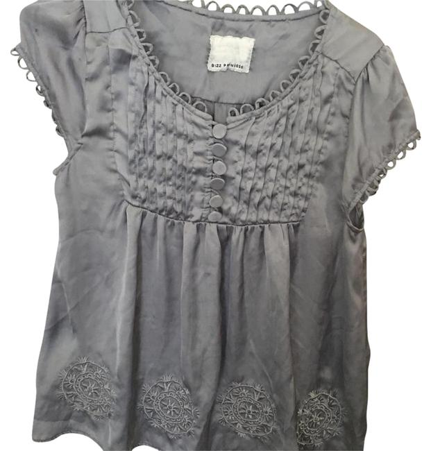 Item - Grey Babydoll Style That Covers Stomach Large. Great For Maternity Wear Or Those Who Have Larger Mid Sections. Blouse Size 12 (L)