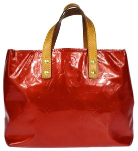 Louis Vuitton Vernis Tote in Red / FREE Same Day Ship /