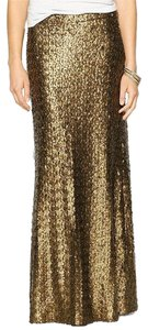 Sabine Sequin Holiday Prom Sequin Maxi Skirt copper
