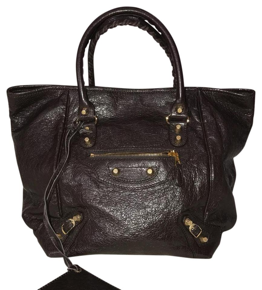 c584fd8d35f Balenciaga Bag New Giant Velo Brown Lambskin Leather Tote - Tradesy