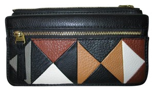 Fossil Erin patchwork leather flap clutch