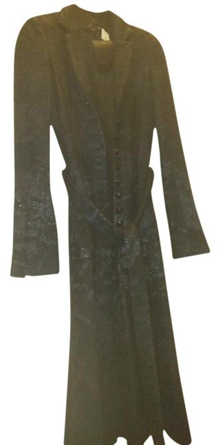 Item - Black Rare 40 Long with Sparkling Thread Coat Size 4 (S)