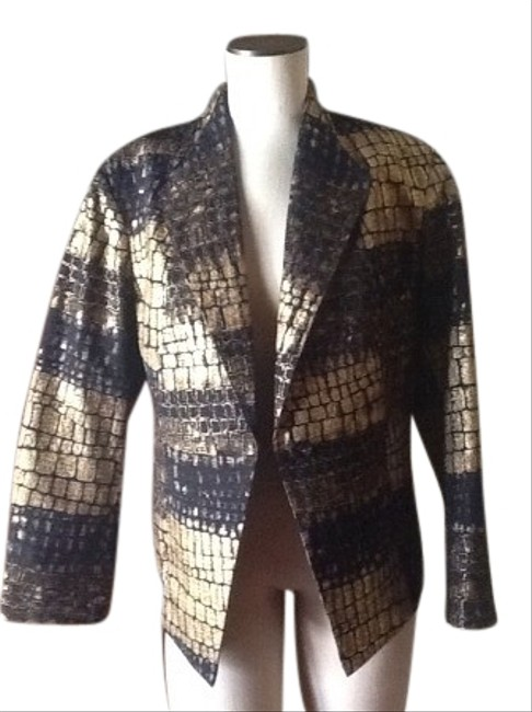 Chico's Black And Gold Jacket