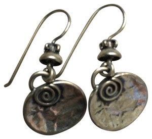 Silpada Sterling silver hammered disc drop earrings