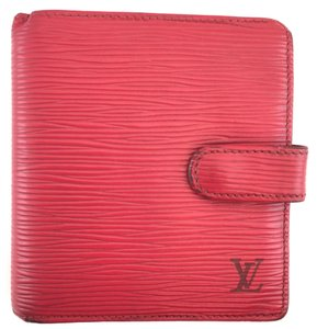 Louis Vuitton #13947 epi leather Compact Wallet flap business credit card Monogram