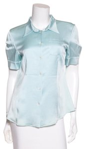 Miu Miu Button Down Shirt Pale Blue