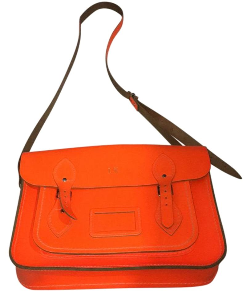 c865d024a960d The Cambridge Satchel Company Bright Orange Leather Cross Body Bag ...