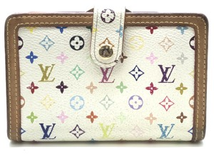 Louis Vuitton #13959 Monogram Multicolore French Wallet Kiss Lock Pocket Bill Holder