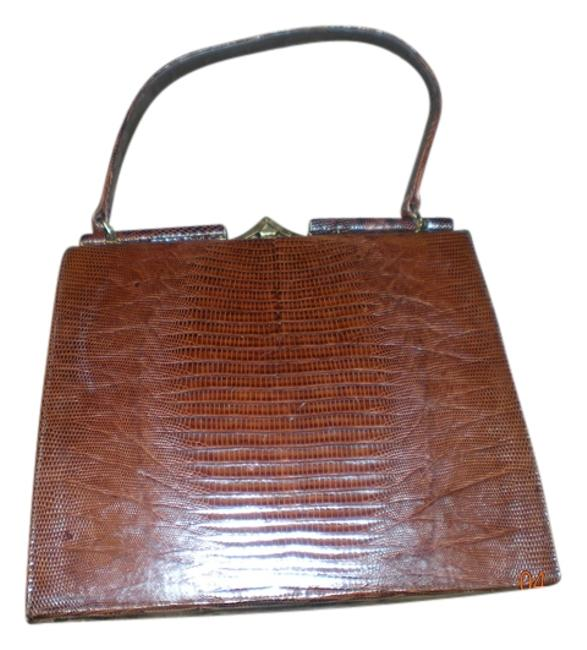 Item - Handbag Brown Genuine Allegator Satchel