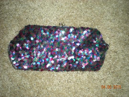 Josef Seibel Vintage Josef France mult beaded Clutch