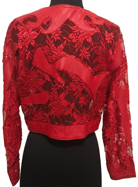 Item - Red Faux Jacket Size 6 (S)
