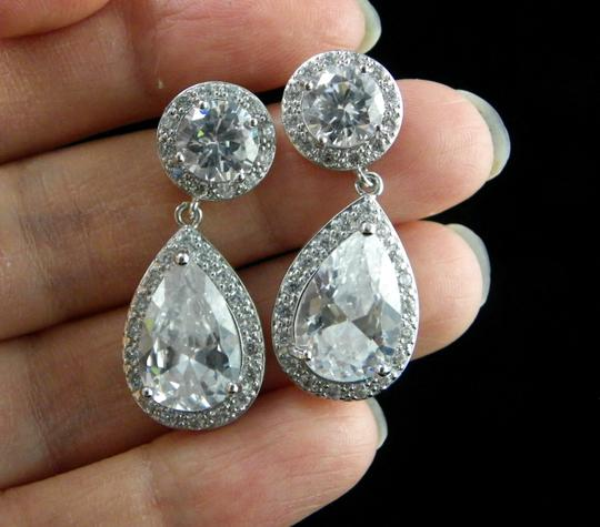 Clear Zircone Earrings