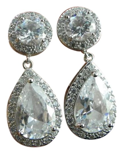 Crlear Zircon Earrings
