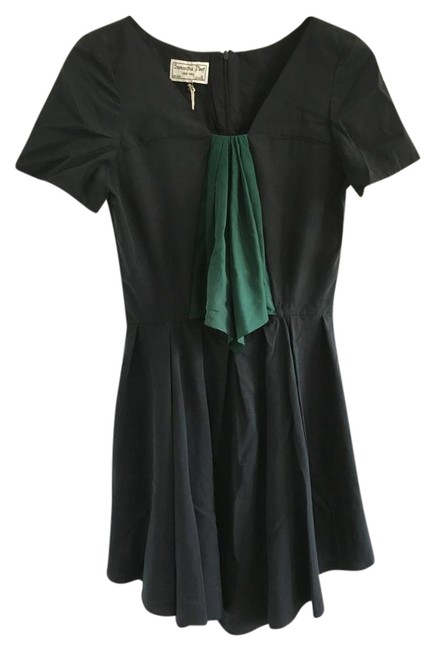 Item - Black Green The Enchantment Short Casual Dress Size 4 (S)