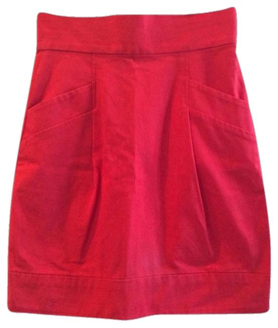 Preload https://item5.tradesy.com/images/french-connection-skirt-red-2206469-0-0.jpg?width=400&height=650