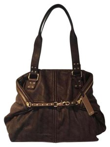 Botkier Leather Tote Quilted Leather Satchel in espresso