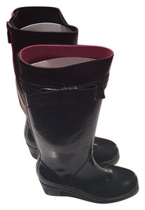 Kate Spade Black / Red Boots