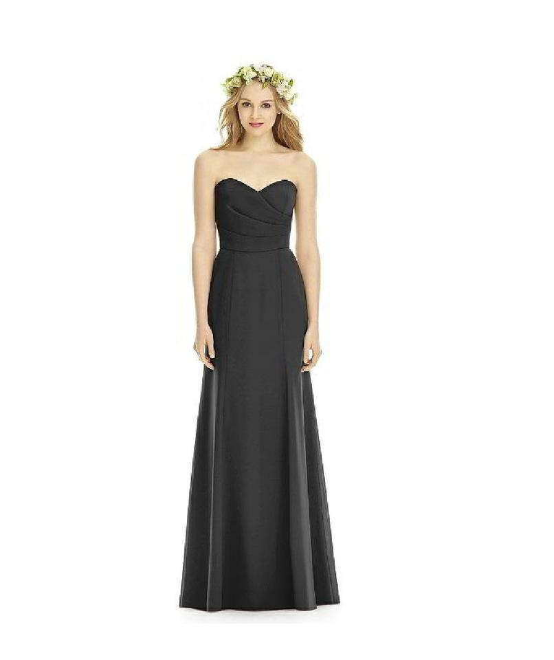 Social Bridesmaids Black 8176 Long Formal Dress Size 10 (M) - Tradesy