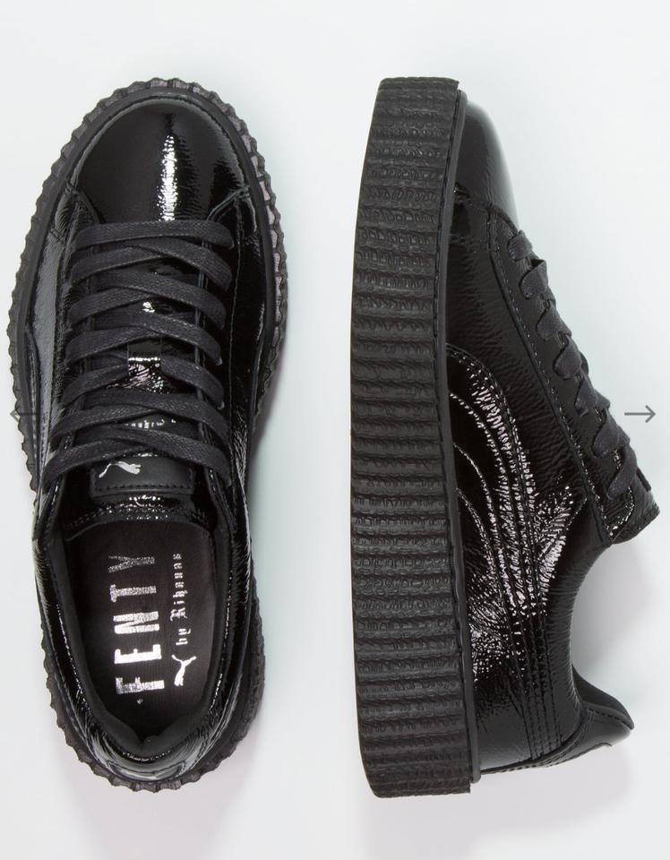 new style f6e3b 56b47 Puma Black Fenty By Rihanna Creeper Cracked Leather Bnib Sneakers Size US  10 Regular (M, B)