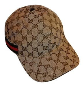 Gucci Gucci Women's Original GG canvas baseball hat Medium Brand New