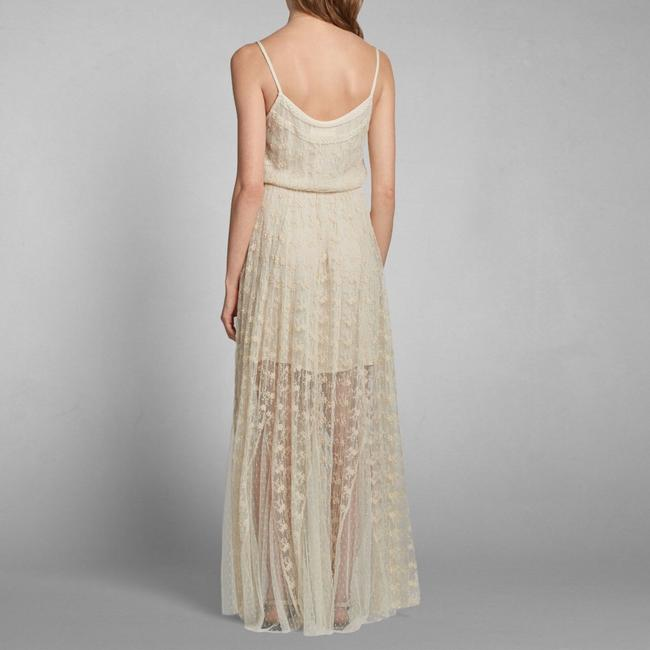 Cream Maxi Dress by Abercrombie & Fitch Image 1