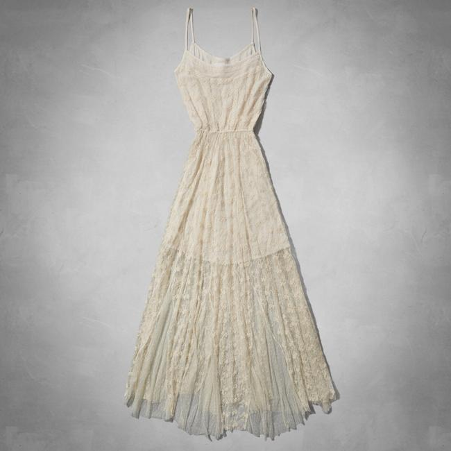 Cream Maxi Dress by Abercrombie & Fitch Image 2