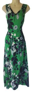 Navy blue, white, kelly green Maxi Dress by Coldwater Creek