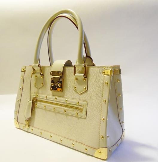Louis Vuitton Satchel in Cream/Off White