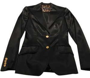 Dolce&Gabbana Woman Runway satin with leopard printing inside jacket and pants