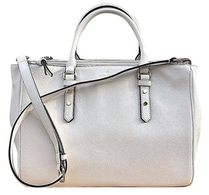 Kate Spade Mulberry Street Leighann Satchel Tote in Cement