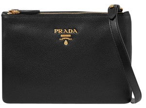 Prada Vit Daino Classic Signature Shoulder Bag