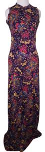 Purple floral Maxi Dress by Meleny Road Vintage Maxi