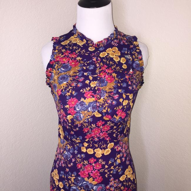 Purple floral Maxi Dress by Meleny Road Vintage Floral Maxi