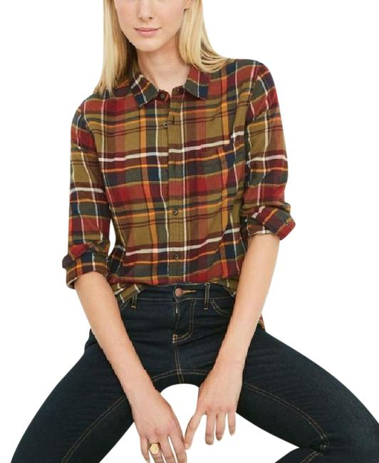 Item - Plaid Varley Button-down Top Size 4 (S)