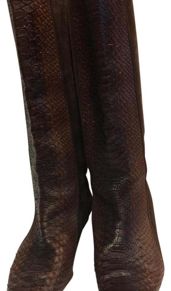women Attractive Paolo Brown Crocodiles Boots/Booties Attractive women and durable 67d107