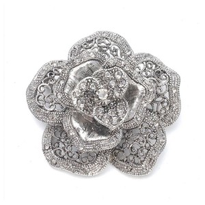 Mariell Silver Vintage Rose Special Occasion 971p-as Brooch/Pin