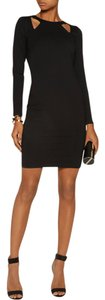 Halston Heritage Longsleeve Sheath Cut-out Stretchy Fitted Dress