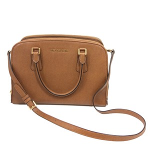 191de719d556 Michael Kors Adjustable Strap Leather Satchel in Tan