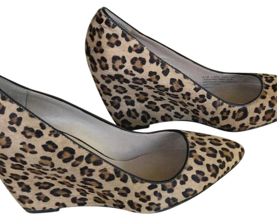 68a96013832 Franco Sarto Leopard Pointed Toe Calf Hair Wedges Size US 9.5 ...