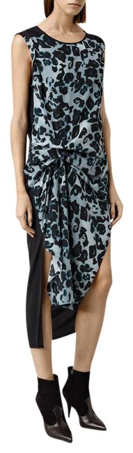 Item - Black & Blue Riviera New Women's Leo Silk Mid-length Casual Maxi Dress Size 4 (S)