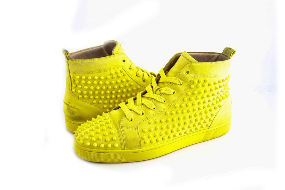 save off 89e50 045b2 Christian Louboutin * Yellow Louis Spike Flat Shoes 22% off retail