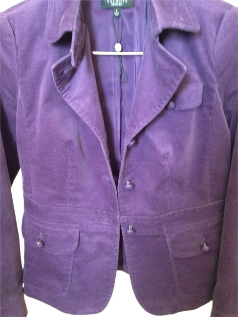 Preload https://item5.tradesy.com/images/talbots-purple-lined-velour-blazer-night-out-top-size-4-s-2206814-0-0.jpg?width=400&height=650