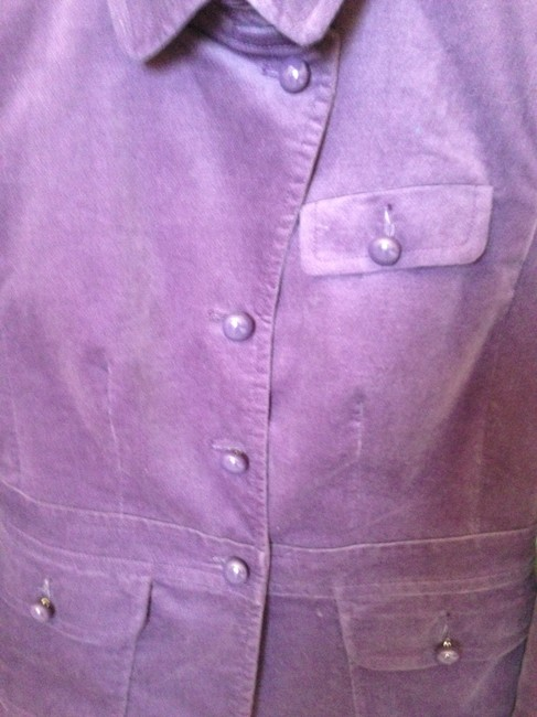 Talbots Shell 77% Cotton 23% Elastrel Polyester Lining Top Purple