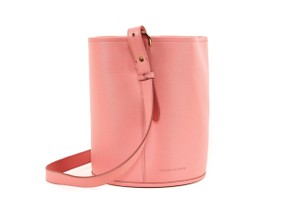 Creatures of Comfort Leather Bucket Purse Tote in Pink